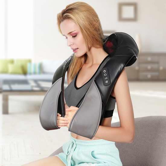 Ellesye 红外加热 肩颈3D按摩披肩 48.99加元包邮!
