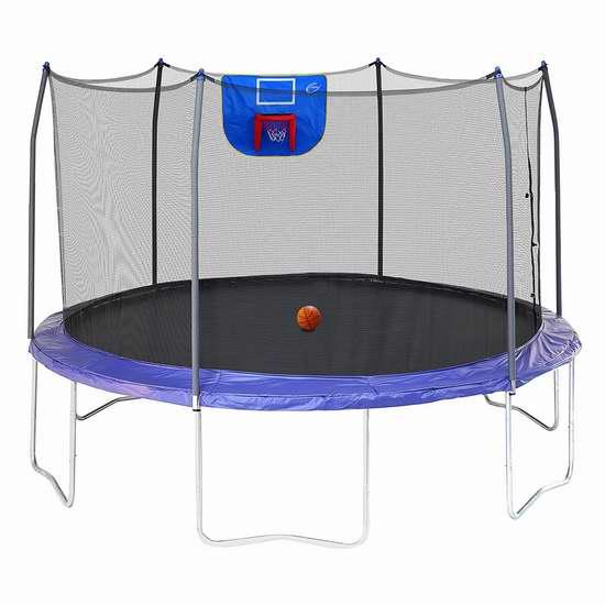 补货!Skywalker Trampolines Jump N' Dunk 12英尺带保护罩+篮球框 封闭蹦床5.1折 288.95加元包邮!