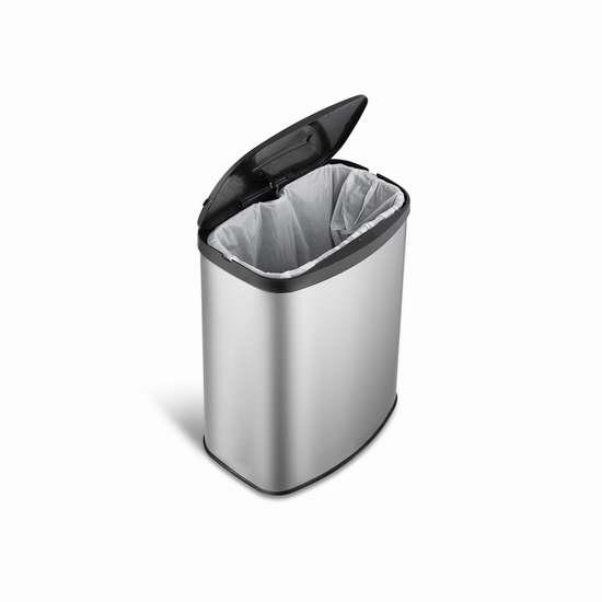 NINESTARS DZT-8-1c 2.1加仑红外感应式不锈钢垃圾桶 6折 43.69加元包邮!