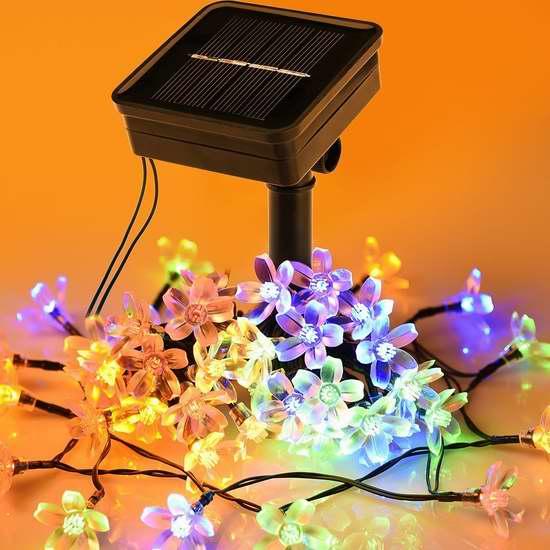 Litom 太阳能户外防水彩色LED装饰灯 9.99加元限量特卖!
