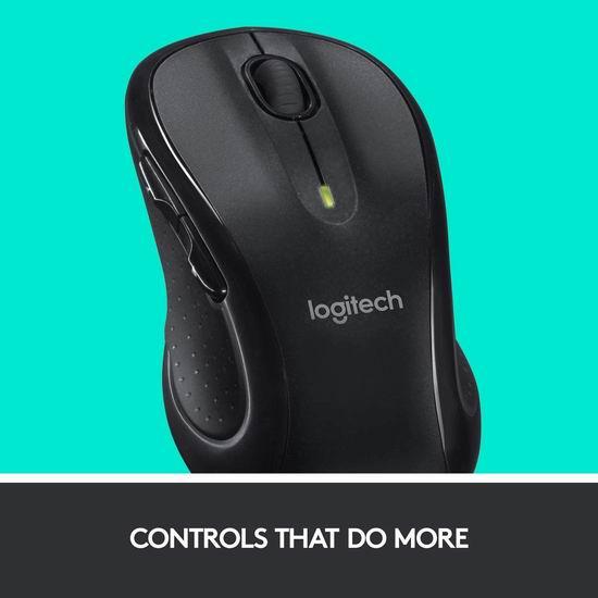 Logitech 罗技 M510 黑色无线激光鼠标 29.99加元!3色可选!