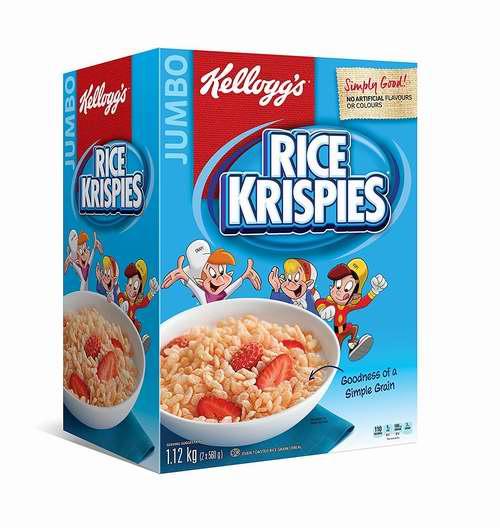 白菜价!Kellogg's Rice Krispies 早餐速食营养麦片(1.12公斤)4.6折 4.74加元!