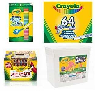 金盒头条:精选19款 Crayola 绘儿乐 马克笔、蜡笔、彩色铅笔、魔法粘土超值装等4.1折起!
