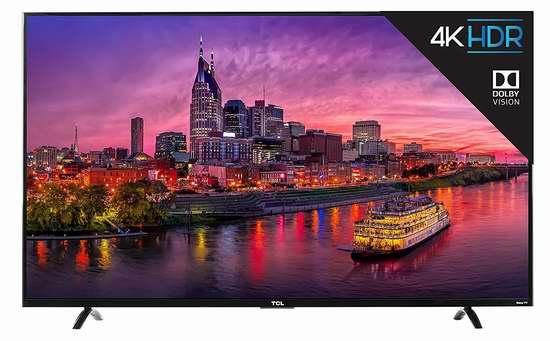 历史新低!2017版 TCL 55P607 55寸4K超高清智能电视 642.1加元包邮!