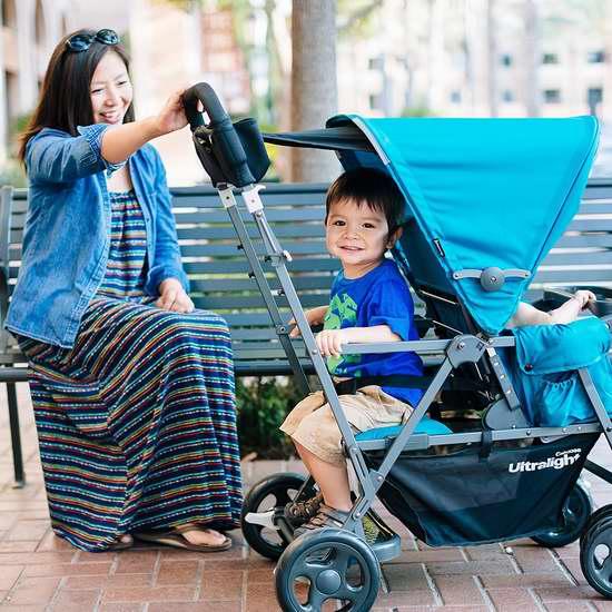 Joovy Caboose Graphite 超轻量级双人婴儿推车6.4折 249.99加元包邮!2色可选!