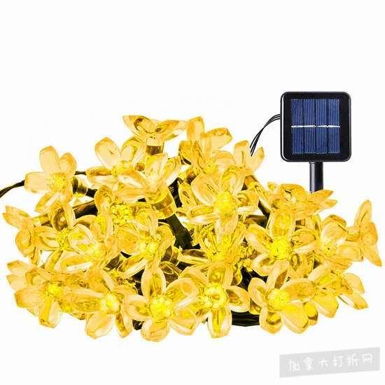 白菜价!Ecandy 21英尺太阳能50 LED装饰灯2.6折 6.99加元清仓!