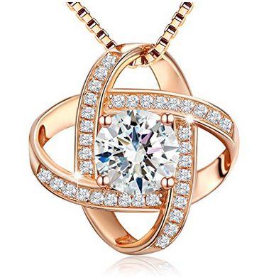 史低价!J.Rosée 永不分离 纯银玫瑰金项链1.2折 16.87加元特卖