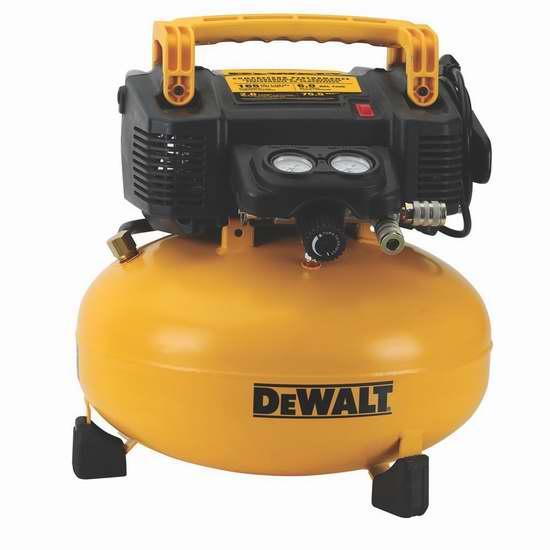 网购周头条:历史新低!DEWALT 得伟 DWFP55126 6加仑空气压缩机 174.3加元包邮!