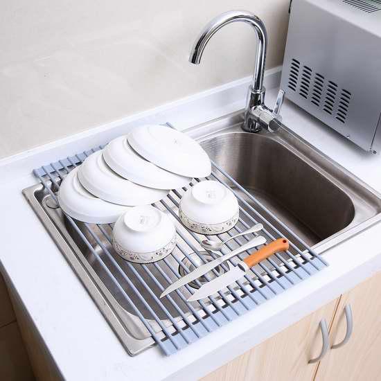 Ohuhu 不锈钢多用途水槽沥水架/烘烤架/冷却架 17.99加元!