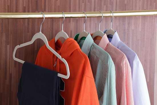 衣服挂无痕!Utopia Home 优质防滑绒面衣架50件套2.2折 21.99加元!