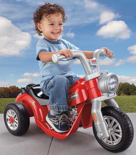 历史新低!Fisher-Price 费雪 Lil Harley 三轮电动车4.7折 70.28加元包邮!