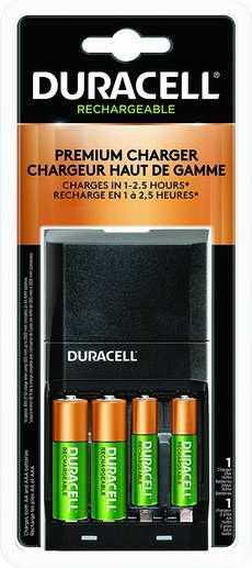历史新低!Duracell Ion Speed 4000 4通道电池快速充电器+4只AA/AAA镍氢充电电池套装 20.4加元!
