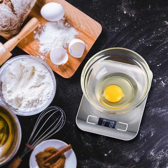 白菜价!历史新低!Kealive 不锈钢数字式厨房秤 7.14加元清仓!