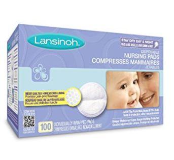 Lansinoh 一次性防溢乳垫 10.42加元(100片),原价 19.99加元