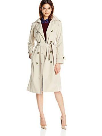 London Fog 女士中长款风衣 123.84-130.19加元(2色),原价 236.24加元,包邮
