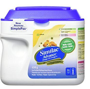 Similac advance step 1 omega-3 and omega-6非转基因配方奶粉 27.53加元,原价 32.99加元