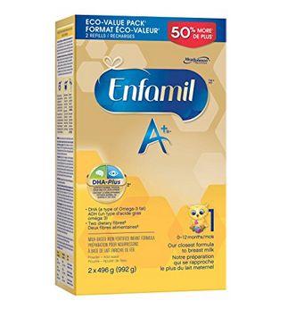 Enfamil A+婴儿配方奶粉 1/2段 40.36加元(会员价 36.1加元),walmart同款价 47.97加元,包邮