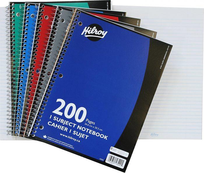 Hilroy Coil 3孔 笔记本(200页) 1.96加元