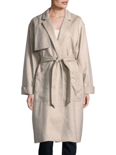 纽约设计师品牌!Rag & Bone长袖束腰风衣 267.52加元,原价 1037.5加元