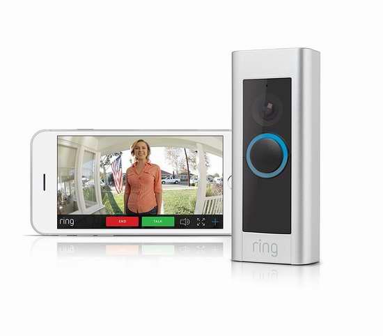 Ring Pro 第二代1080P全高清WiFi智能门铃 239加元包邮!