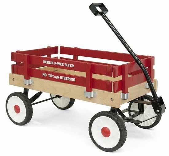 历史新低!Berlin F257 Amish-Made Pee-Wee 红色实木儿童拖车5.3折 113.91加元包邮!