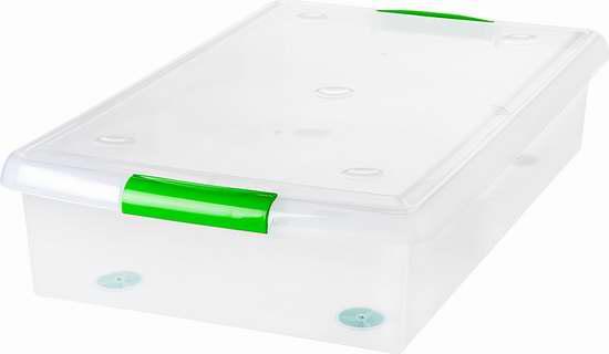 白菜价!历史新低!IRIS 40夸脱透明储物箱6件套1.7折 36.74加元包邮!