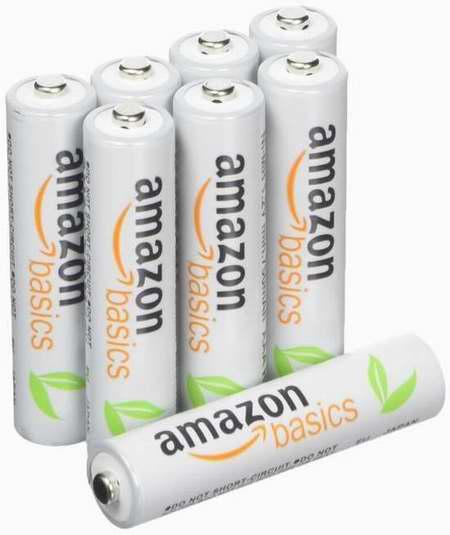 历史最低价!AmazonBasics AAA 800 mAh 可充电镍氢电池8只装6.5折 12.99加元!