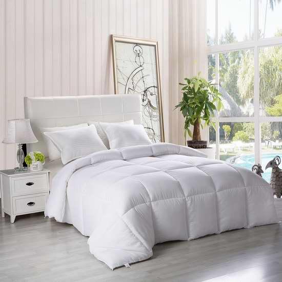 Utopia Bedding 防过敏 防尘螨 Queen 仿羽绒被 37.99加元!