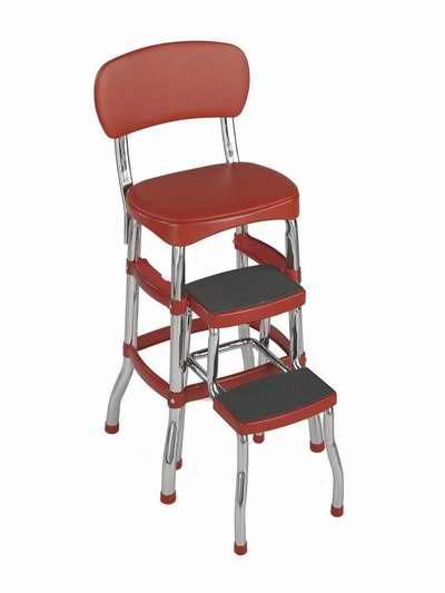 历史新低!Cosco 11120RED1 红色复古 吧椅/梯凳4.6折 60.98加元包邮!