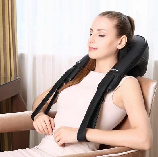 Naipo MGS-159 红外加热 肩颈柔和指压按摩披肩6.1折 79.99加元包邮!免税!