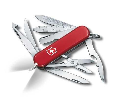 历史最低价!Victorinox Swiss Army 维氏正宗瑞士 53976 Midnite Minichamp 16功能口袋刀5折 39.5加元包邮!