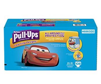 Pull ups Learning designs 宝宝训练尿不湿底裤 27.32加元(108张),原价 38.99加元,会员价 22.38加元