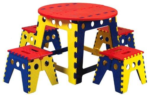 历史新低!Martin U-9512 Legacy 彩色折叠式幼儿桌椅5件套1.9折 35.88加元清仓并包邮!