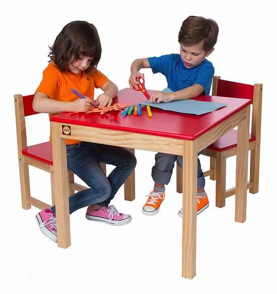 历史新低!Alex 木质儿童桌椅3件套2.1折 61.51加元包邮!
