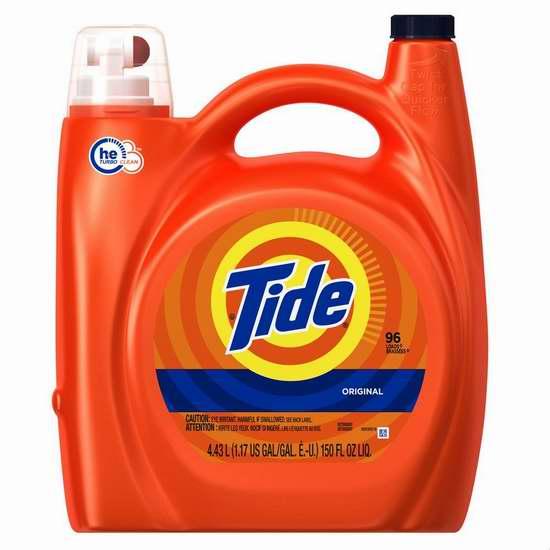 精选54款 Tide 汰渍 洗衣液特价销售!额外再打8.5折!图示款96缸量洗衣液折后仅15.2加元!