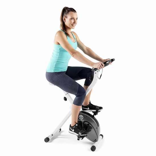 Impex Marcy 可折叠磁阻健身自行车 7折 184.1加元包邮!室内健身,无惧风雨!会员专享!