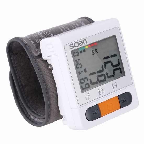 历史新低!iClight 数字腕式电子血压计 19.99加元!