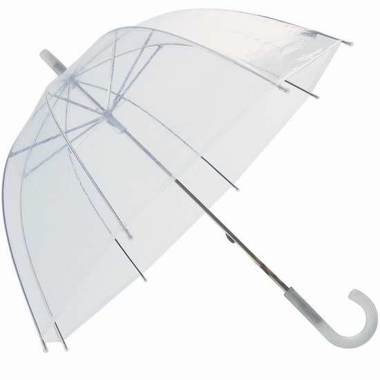 历史新低!RainStoppers W103CHDOME 34英寸儿童透明雨伞2.7折 6.88加元!