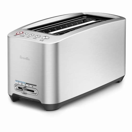 金盒头条:历史新低!Breville BTA830XL 加长型智能烤面包机6.1折 132加元包邮!