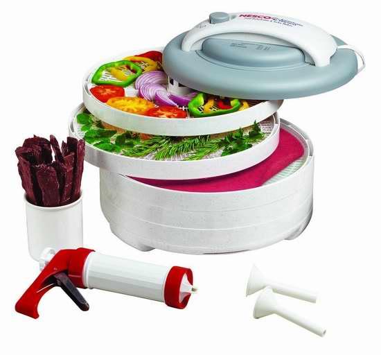 近史低价!Nesco 零食大师 FD-61WHC 专业食物烘干脱水机6.9折 89.99加元包邮!