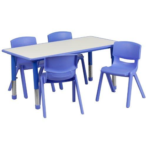 历史新低!Flash Furniture 高度可调儿童活动桌椅5件套4折 149.99加元包邮!