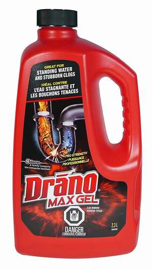 Drano Max Gel 下水道强力疏通液2.37升超值装 8.99加元包邮!