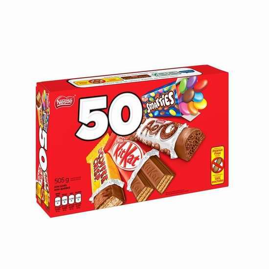历史最低价!NESTLÉ MINIS 万圣节糖果50个超值装 6.62加元!