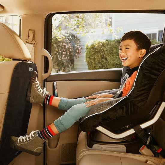 Brica 加大豪华汽车座椅防脏防踢垫2件套6.7折 17.97加元!