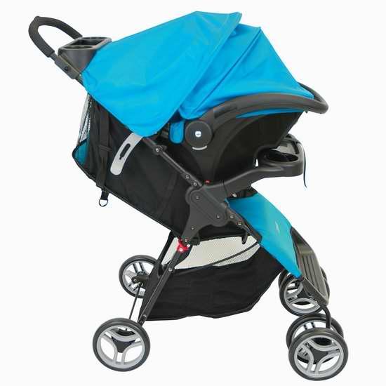 历史最低价!Cosco 01211CPEC Lift & Stroll 婴儿推车+婴儿提篮旅行套装 129.97加元包邮!