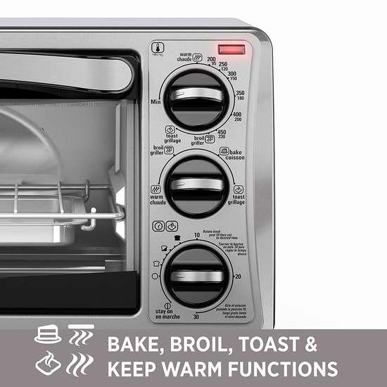 补货!历史新低!Black & Decker TO1313SBD 4-Slice 不锈钢 对流电烤箱3.1折 24.88加元清仓!