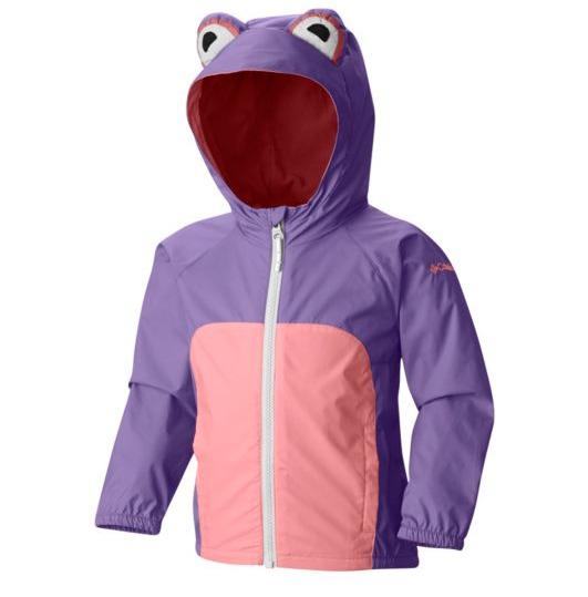 超级可爱!Columbia Kitteribbit 青蛙形防水连帽外套 29.9加元(3色),原价 59.99加元