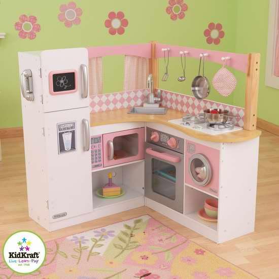 KidKraft 53185 超大转角豪华儿童玩具厨房6折 149.97加元包邮!