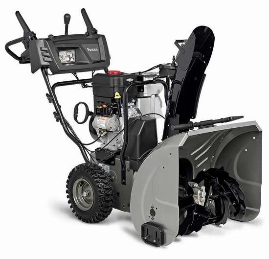 历史新低!Poulan Pro P2400 305cc B and S 24英寸双阶汽油铲雪机 709.99加元包邮!