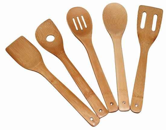 Totally Bamboo 天然竹制锅铲锅勺5件套 11.99加元!